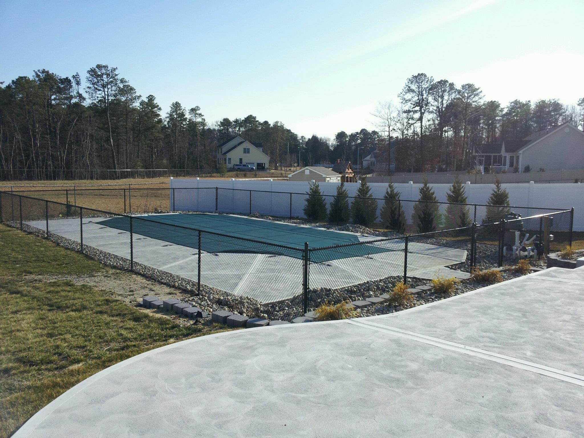 Black Chainlink Pool Fence - Ocean County, NJ