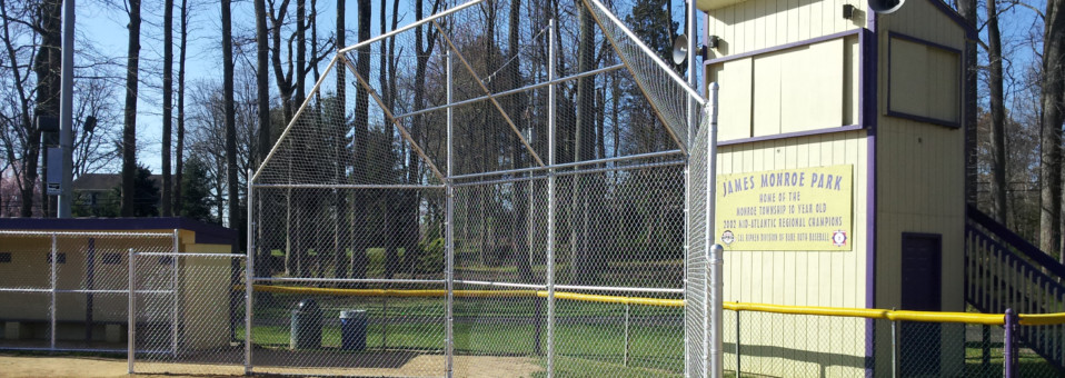 James Monroe Park Little League Backstop