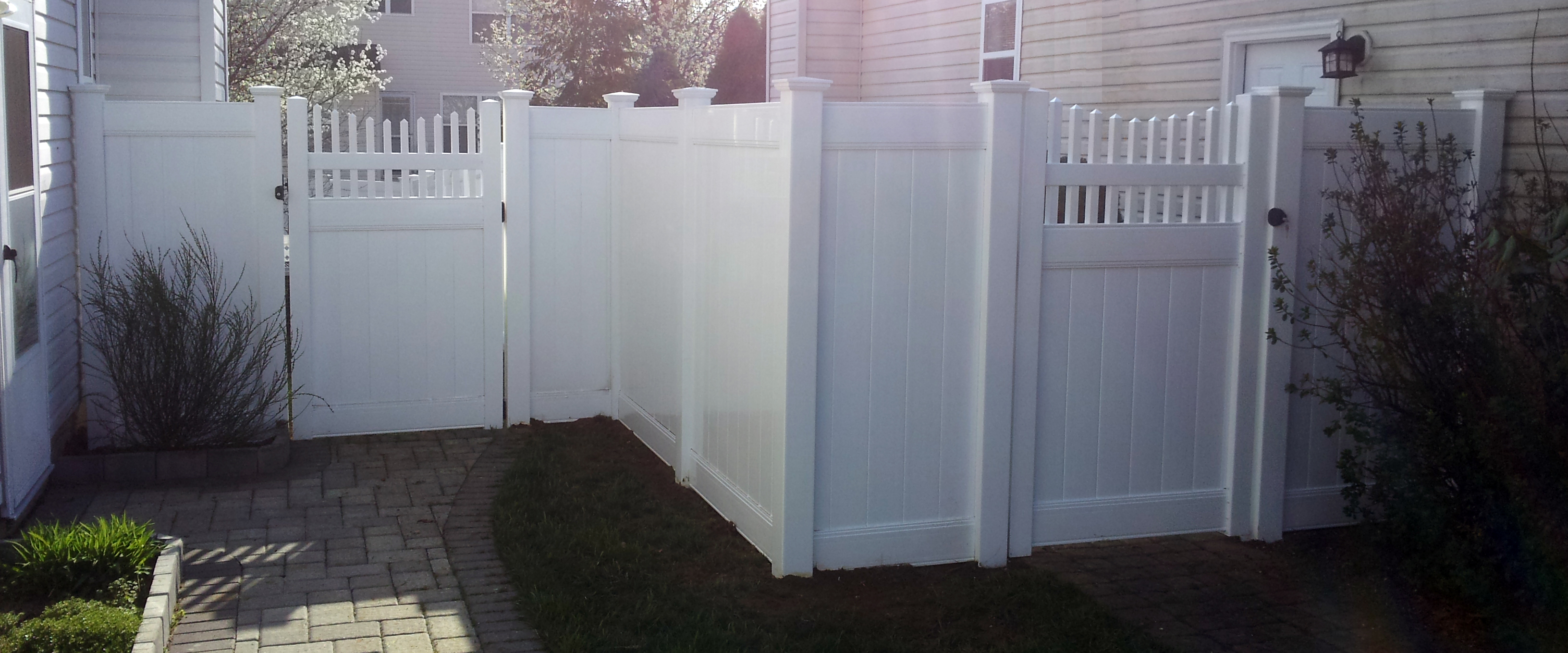 Pvc Vinyl Fencing With Scalloped Gate Smc Fence
